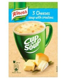 Knorr por leves 16g/17g instant 3 sajtos krém