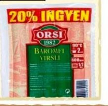 Orsi baromfi virsli 240g+20%