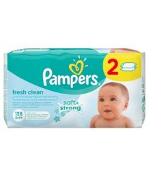 Pampers babatörlõ 2x64db fresh