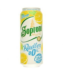 Soproni Radler citromos alkoholmentes sörital 0,0% 0,5 l