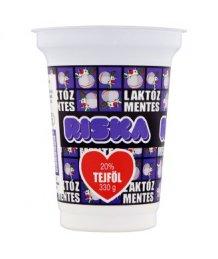 Riska laktózmentes tejföl 20% 330g