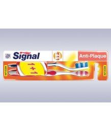 Signál fogkefe 1+1db Duo Anti Plaque KÖZEPES