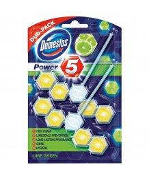 Domestos Power5 toalett frissítõ 2x55g Lime illat