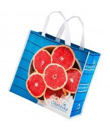 Ökotáska 39x41x19cm grapefruit mintás