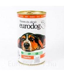 Euro Dog kutya konzerv 1,24kg marha