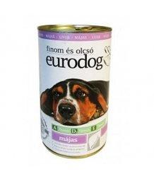 Euro Dog kutya konzerv 1,24kg máj