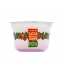 Gazda joghurt epres gyümölcságyon 200g