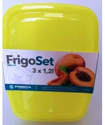 Frigo szett 3x1,2l szögletes