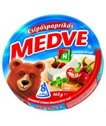 Medve ömlesztett sajt 140g csípõspaprikás