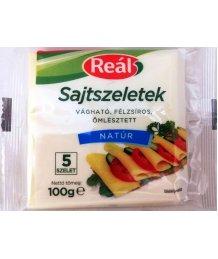Reál ömlesztett sajtszeletek 100g natúr