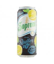 Soproni Dark Radler citrom alkoholmentes sörital 0%0,5l dob.