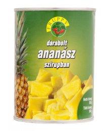 Fruppy darabolt ananász konzerv 340g/565g