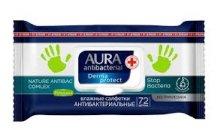 Aura Derma protect antibakteriális törlõkenydõ 72db