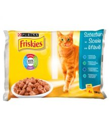 Friskies macskaeledel 4*85g halas válogatás