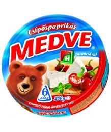 Medve ömlesztett sajt 200g csipõspaprikás