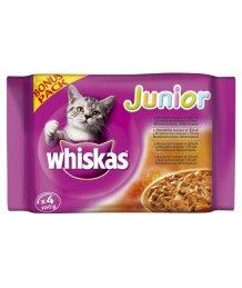 Whiskas tasakos macskaeledel 4x100g Junior Bonus