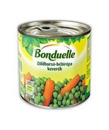 Bonduelle zöldségkonzerv borsó-bébirépa 400g