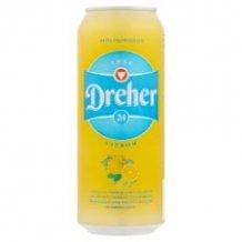 Dreher D24 citrom íz? alkoholm.világos sör 0,5l dobozos