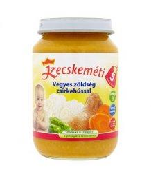 Kecskeméti bébiétel 190g vegyes zöldség csirkehússal (5 hó)