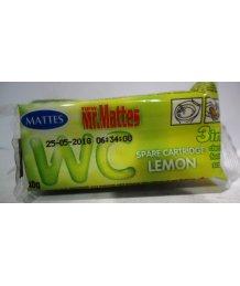 Mattes toalett frissítõ blokk utántöltõ 1db 40g citrom illat