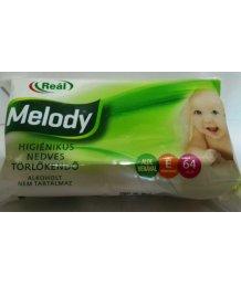 Reál Melody nedves törlõkendõ 64db