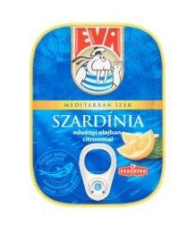 Eva szardínia növényi olajban citrommal 115g/81gTT
