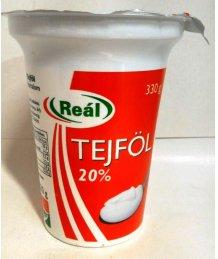 Reál tejföl 20% 330g
