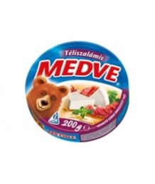 Medve ömlesztett sajt 200g téliszalámis