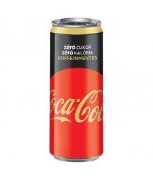 Coca Cola szénsavas üdítõ 0,33l Coffeinfree zero dobozos
